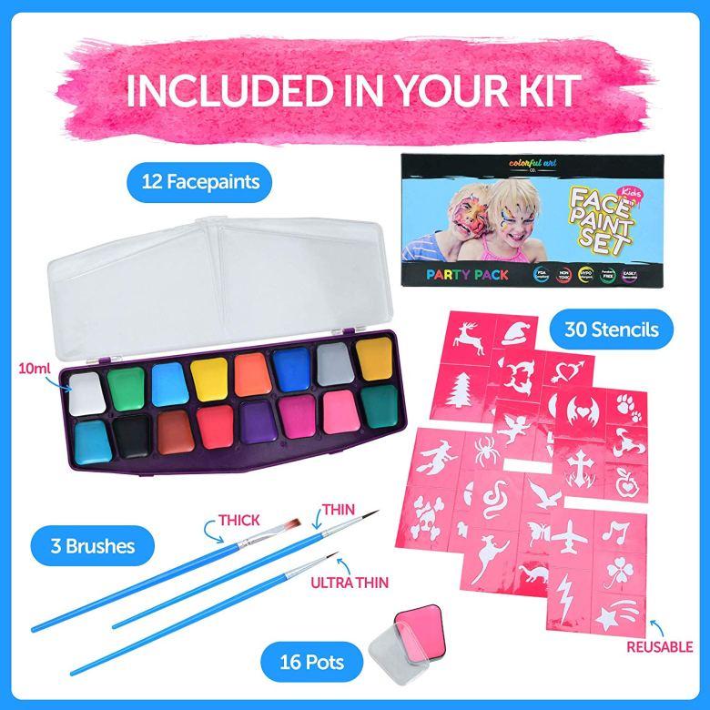 5.Face Paint Art Co Face Paint for kids