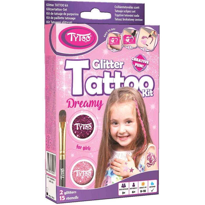 1. Girls Temporary Tatoo Kits Tytoo Kit