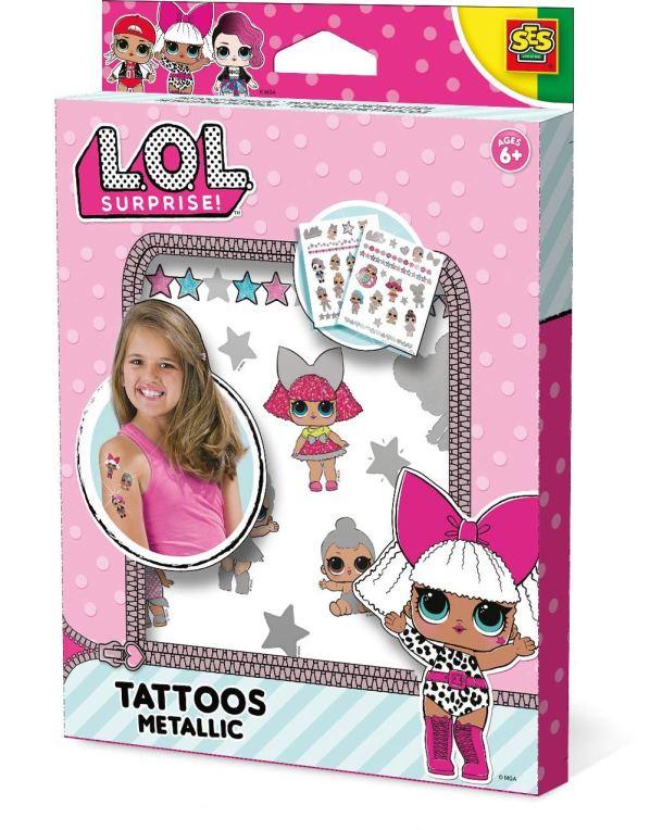 2. Girls Temporary Tatoo Kits LOL Kit