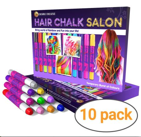 2.Hair Decorations Desire Deluxe Hair Chalk 10 Pack