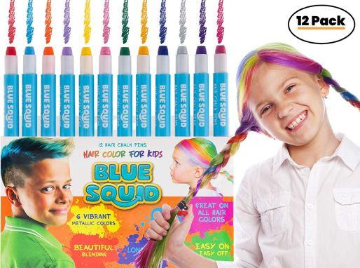 3.Hair Decorations Blue Squib 12 Chalk Set