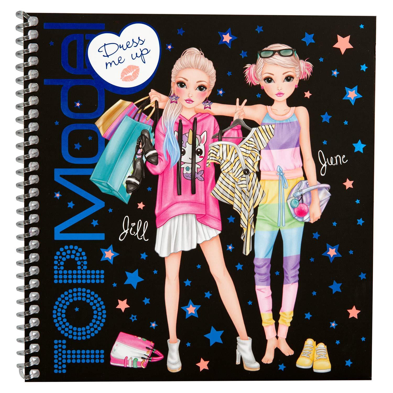 5. Makeup Colouring Book Depesche 10452 Sticker Book TopModel Dress Me Up